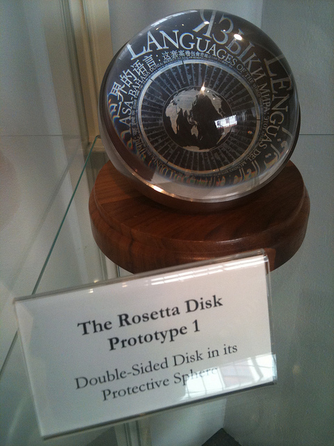 Prototype Rosetta disc from 02008