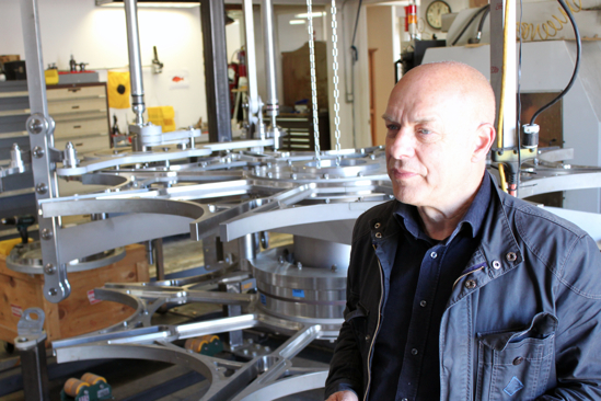 Brian Eno visits the Long Now Clock workshop