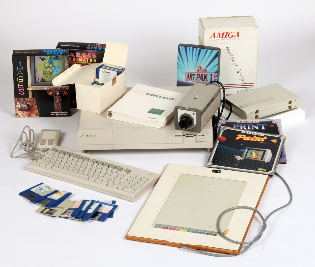 Amiga computer equipment used by Andy Warhol. Photo: Andy Warhol Museum