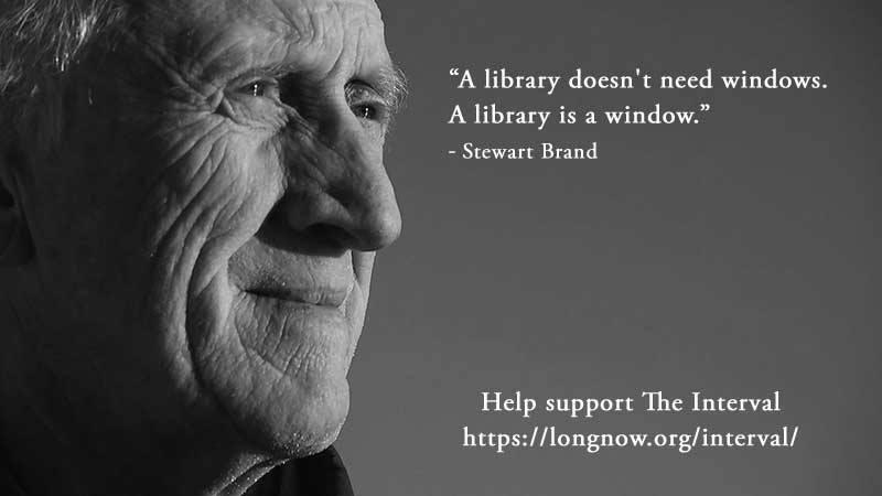 Stewart Brand - a Library is a window