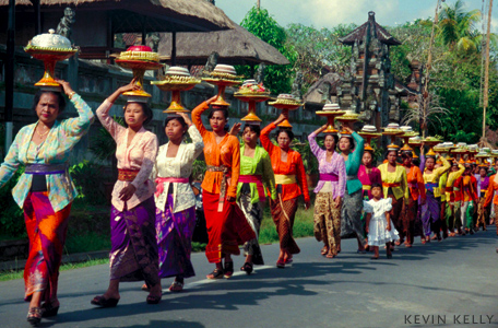 Balinese procession from Asia Grace by Kevin Kelly